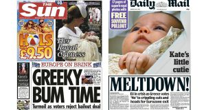 In the UK, the Sun and the Daily Mail lead with the vote result