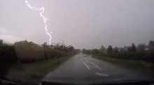 Lightning strikes twice in Derry