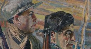 Seán Keating's 'Men of the South' bought by the Crawford Gallery with the Gibson Bequest in 1923.,
