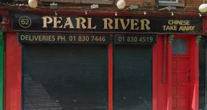 Pearl River take away in Phibsborough, Dublin 7 which was issued a closure order last month. Photograph: Google street view