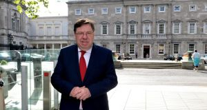 Former taoiseach Brian Cowen said the dinner with Anglo Irish Bank employees was a social occasion and the bank's difficulties were not discussed. Photograph: Cyril Byrne/The Irish Times