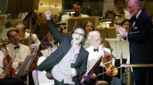 U2 singer Bono performing in 2004 at Symphony Hall in Boston, the first concert hall to be designed using quantitative acoustics. Photograph: Marc Serota/Reuters