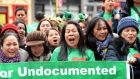 Demonstrators in Dublin  supporting the 'undocumented' in Ireland. File photograph: Eric Luke/The Irish Times