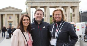 Amelio Group managing director Catherine O'Neill, CD Group chief executive Terry Knox and Vita Liberata chief executive Alyson Hogg at the EY CEO Retreat in Germany