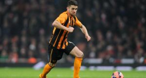 "Norwich's attempts to sign Robbie Brady in a cut-price deal have been labelled ""embarrassing"" by Hull manager Steve Bruce. Photograph: Daniel Hambury/PA"