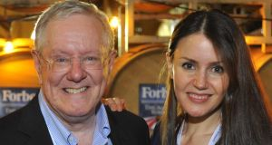 Forbes Media chief executive Steve Forbes and Dr Nora Khaldi founder of Irish biotech company Nuritas.