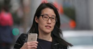 Ellen Pao:  resigning as acting chief executive of social news platform Reddit. Photograph: Robert Galbraith/Reuters
