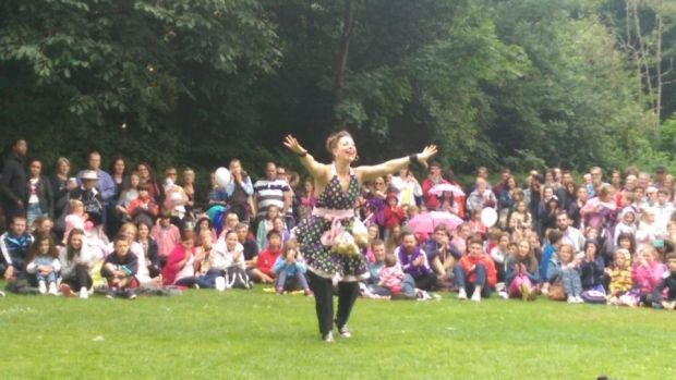 Merrion Square transformed into circus for City Spectacular