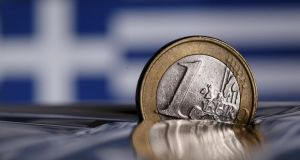 The euro fell on Monday, hurt by uncertainty over whether a near-bankrupt Greece can secure more funding. Photo: Reuters
