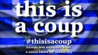 "The hashtag appeared to originate on Sunday evening from Sandro Maccarrone, who describes himself as a physics teacher from Barcelona. He tweeted: ""The Eurogroup proposal is a covert coup d'etat against the Greek people. #ThisIsACoup."""