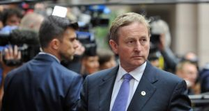 Taoiseach Enda Kenny arrives for a meeting in Brussels of the leaders of the 19 countries that use the euro currency, on July 12th, 2015. Photograph: Jean-Christophe Verhaegen/AFP/Getty Images