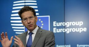 "Head of the eurogroup Jeroen Dijsselbloem: ""A lot of trust had been lost . . . it has to be rebuilt.""  Photograph: Thierry Charlier/AFP/Getty Images"