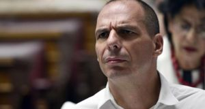 Former Greek finance minister Yanis Varoufakis. Photograph: Louisa Gouliamaki/AFP/Getty Images