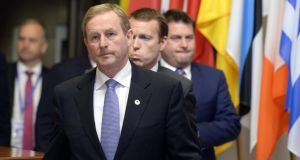 Taoiseach Enda Kenny leaves at the end of Monday's  EU summit on the Greek debt crisis.  Photograph: Thierry Charlier/AFP/Getty Images