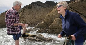 'When it comes to the marine, we've a pretty good record of selling off the family silver, or even giving it away.' Above, John Fitzgerald takes Lorna Siggins on a seaweed foraging tour. Photograph: Valerie O'Sullivan