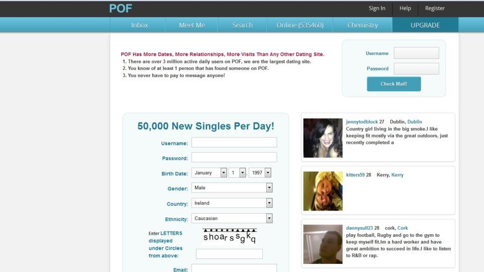 Similar dating site pof
