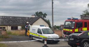 Gardaí have sealed off a house in Drogheda after the body of a man was found. Photograph: Paddy Logue