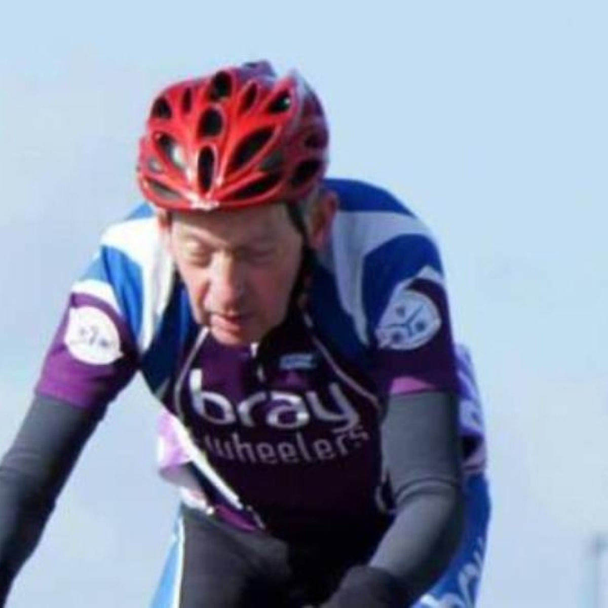 Veteran race cyclist died after falling on oil slick, inquest hears