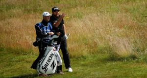 When Shane Lowry first played at St Andrews he was carrying his own bag and the wind was blowing at 40mph. He shot an 81. Photograph:   Mike Ehrmann/Getty Images
