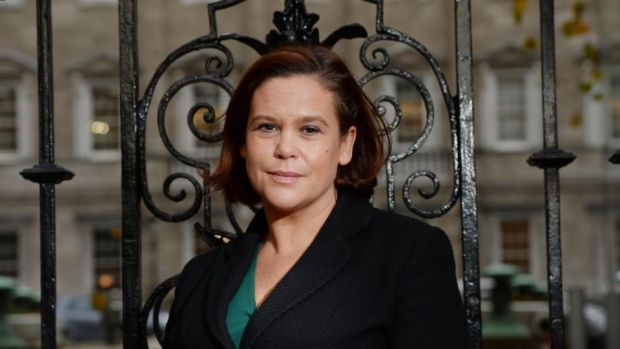 "Mary Lou McDonald: ""The Taoiseach and his cronies in government have stuck their hands in the pockets of working people. "" Photograph: Alan Betson/The Irish Times"