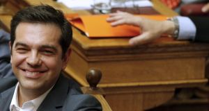 Greek Prime Minister Alexis Tsipras secured the passage of the contentious bailout legislation but lost the his parliamentary majority in the process. Photograph: Reuters