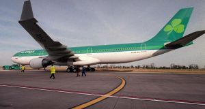 Shares in Aer Lingus were flat at €2.50 while Ryanair was one of only a handful of stocks which declined on the Irish market yesterday. Photograph: Alan Betson