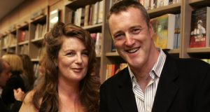 Christine Dwyer Hickey and her brother Owen Dwyer at the launch of  The Dancer in 2005. Photograph: Dara Mac Dónaill