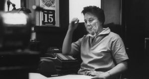 Legal setting: Harper Lee in 1961 in her father's law office in her home town of Monroeville, Alabama, inspiration for the fictional Maycomb. Photograph: Donald Uhrbrock/Life Collection/Getty Images