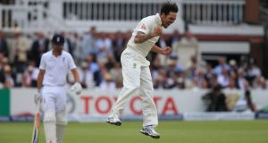 Mitchell Johnson took the wickets of Gary Ballance and Joe Root as Australia dominated the second day of the second Ashes Test at Lord's. Photograph: PA