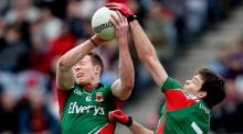 Donal Vaughan and Ger Cafferkey are both back in the Mayo line-up. Photograph: James Crombie/Inpho