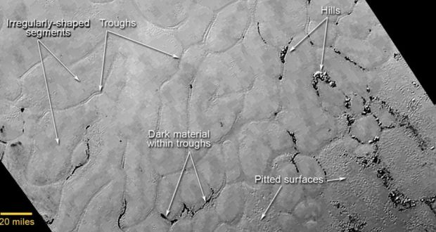 Pluto's polygon-shaped features puzzle scientists