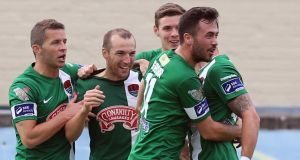 Cork City had a fine 4-1 away win against Longford Town on Saturday night. Photograph: Inpho