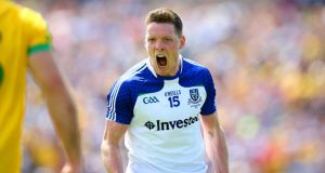 Conor McManus guided Monaghan to a second Ulster football title in three years with victory over Donegal in Clones. Photograph: Inpho