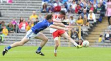 Tiaran Flanagan of Derry scores a crucial goal against Cavan during the Ulster minor final at  Clones, Co Monaghan. Photograph: Inpho/ Presseye