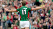 Aidan O'Shea scored a hattrick as Mayo thrashed Sligo to in their fifth Connacht title in a row. Photograph: Inpho