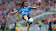 Player-of-the-match Sinead Goldrick, excellent in the Dublin half-back line. Photograph: Inpho