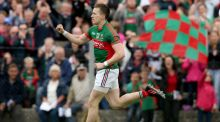 Cillian O'Connor of Mayo celebrates scoring his side's first goal. Photograph: Donall Farmer/Inpho