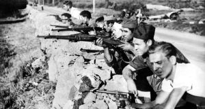 Republican soldiers fighting in the Spanish Civil War. Photograph: STF/AFP/Getty Images