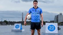 Bernard Brogan at Dublin sponsor AIG's re-launch of insurance products for members of all sporting clubs in Ireland. Photograph: Stephen McCarthy/Sportsfile