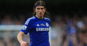 Filipe Luís is to return to Atlético Madrid a year after signing for Chelsea. Photograph: PA