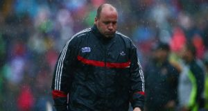 Cork manager Brian Cuthbert was disappointed his players failed to kick on in the second half of the replayed Munster final. Photograph: Cathal Noonan/Inpho