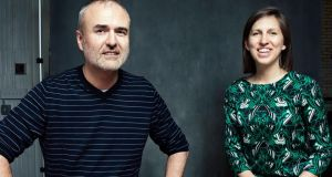 Nick Denton and Heather Dietrick, Gawker Media's managing partners. Photograph: Jesse Dittmar/The New York Times