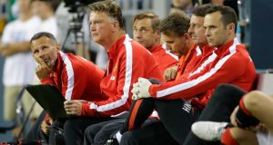 Manchester United manager Louis van Gaal is preparing fans for a 'big surprise'. Photograph: Ted S. Warren/AP
