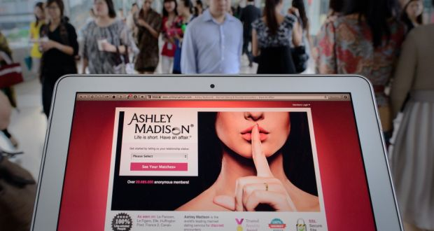 The Ashley Madison website that allowed married members to share their  secret sexual fantasies. Photograph