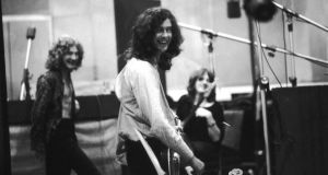 Old school: Robert Plant, Jimmy Page and John Paul Jones in the studio recording Led Zeppelin II, in 1969. Photograph: Charles Bonnay/Life/Getty