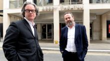 Graham McLaren and Neil Murray of the National Theatre of Scotland, who have been appointed as the new co-directors of the Abbey Theatre in Dublin, beginning on July 1st, 2016. Photograph: Cyril Byrne