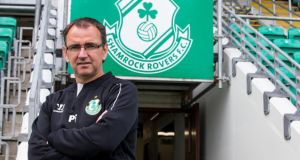"Shamrock Rovers manager Pat Fenlon: ""We simply need to score the first goal. If we can do that, then the tie changes.""   Photograph: Gary Carr/Inpho"