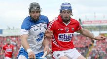 Waterford's Noel Connors in action with Cork's  Patrick Horgan.  Photograph: James Crombie/Inpho