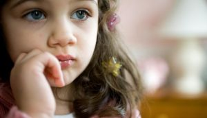 It is very normal for sensitive children to become sad or upset over random incidents that don't seem troublesome. Photograph: Thinkstock