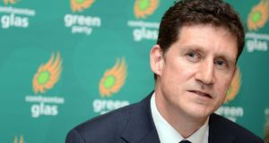 Eamon Ryan said the country needed Green policies like public banking, which removed profit from the lending equation, and instead provides a social dividend to local communities. Photograph: Eric Luke / The Irish Times